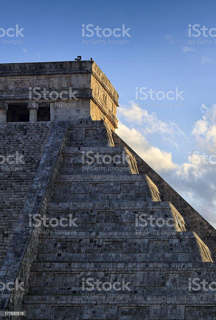 The Pyramid of Kukulcan royalty-free stock photo