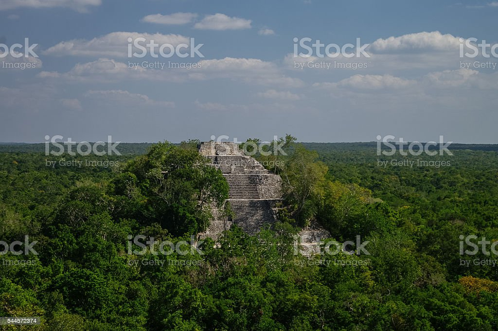 The pyramid structure stock photo