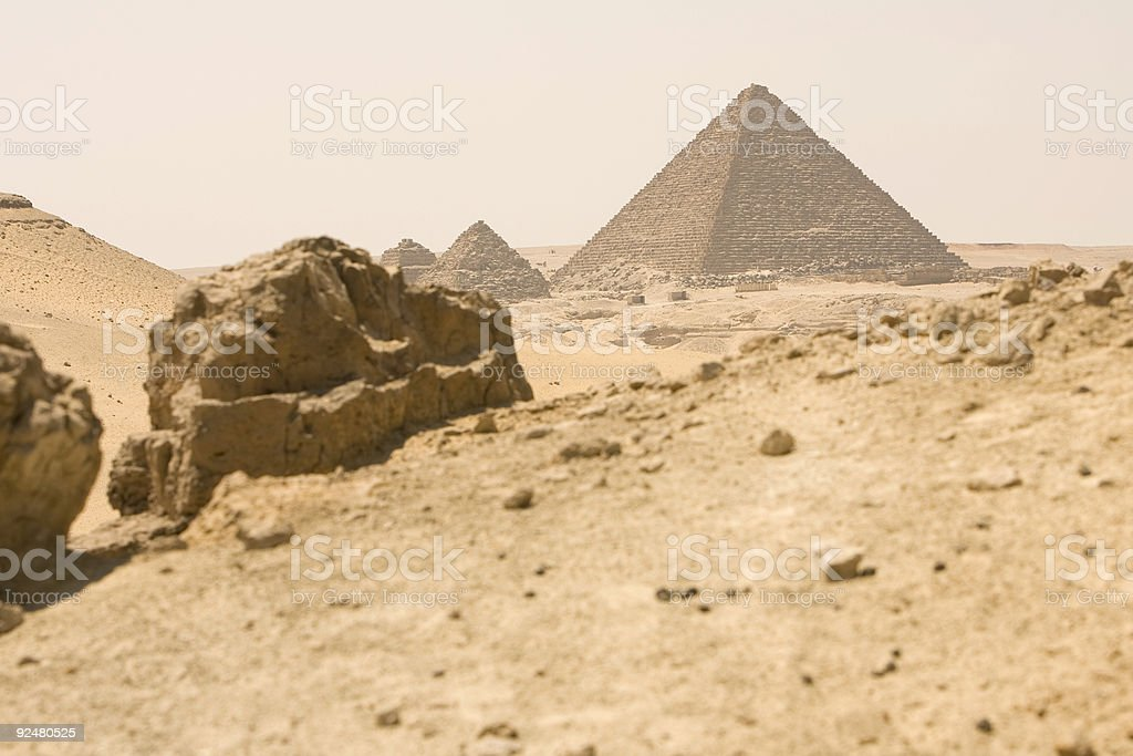 The Pyramids in Cairo, Egypt royalty-free stock photo