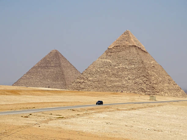 The Pyramids in Egypt stock photo