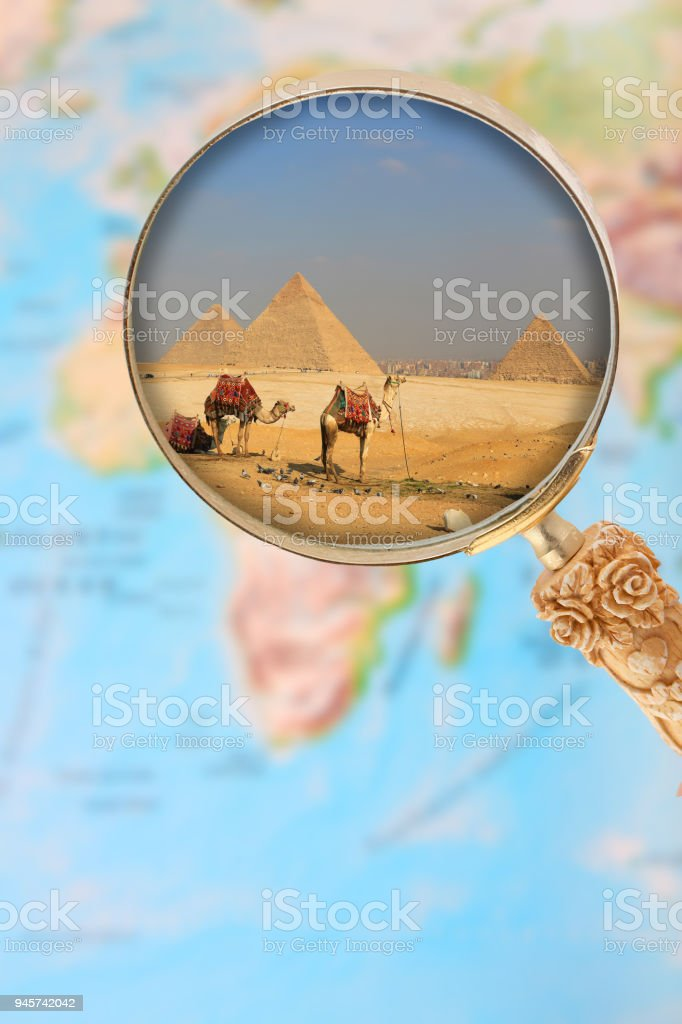 The pyramids of Egypt, Africa stock photo