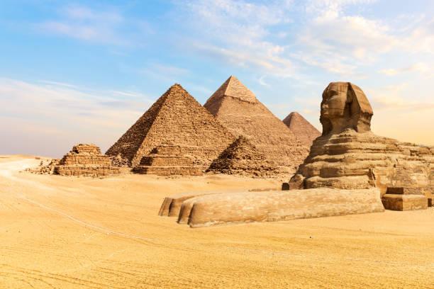 pyramiderna i giza och den stora sfinxen, egypten - egyptisk kultur bildbanksfoton och bilder
