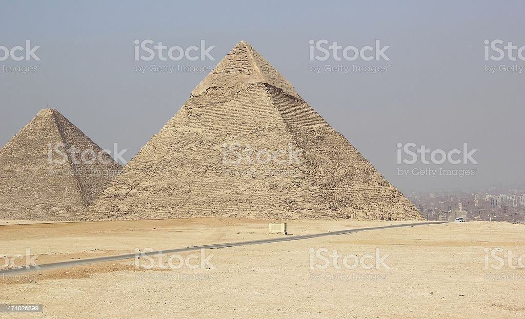 The Pyramids of Giza, Cairo, Egypt. royalty-free stock photo