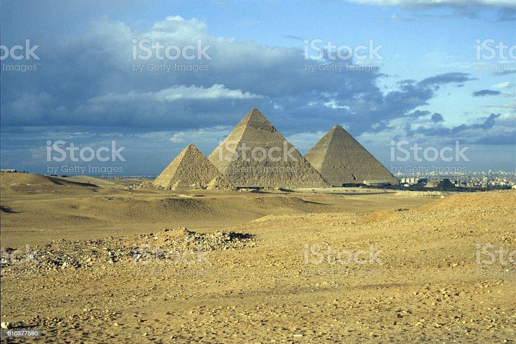 The Pyramids of Giza, Egypt stock photo
