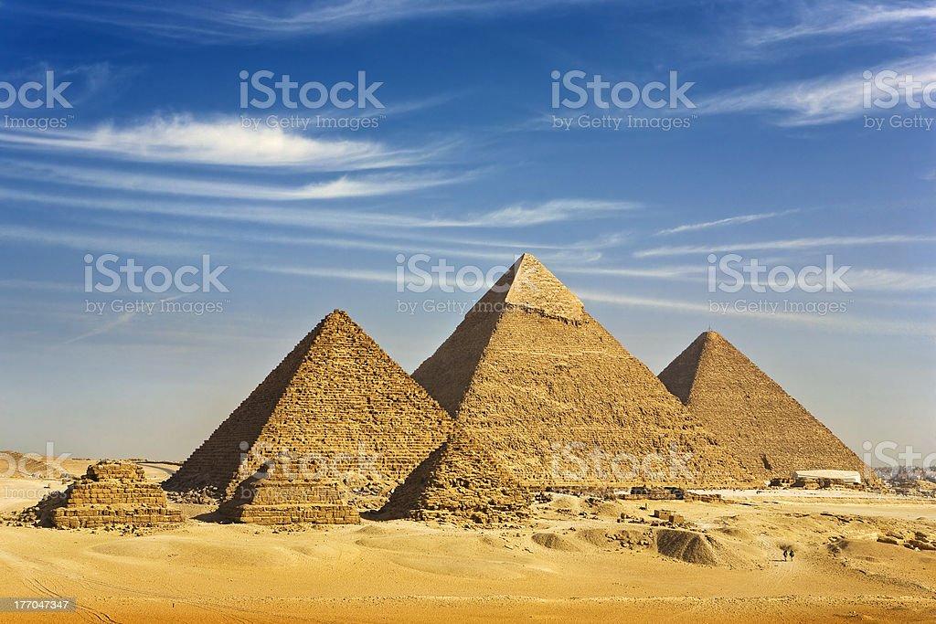 The Pyramids of Giza stock photo