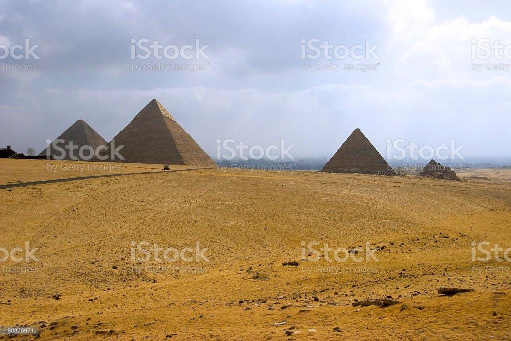 The Pyramids stock photo