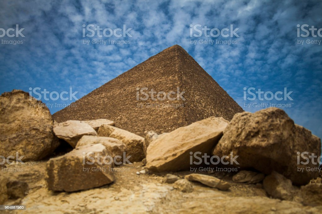 The Pyramids royalty-free stock photo