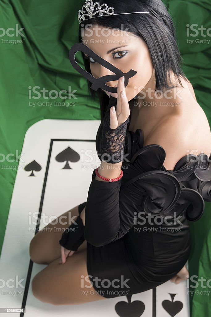 The Queen of Spades stock photo