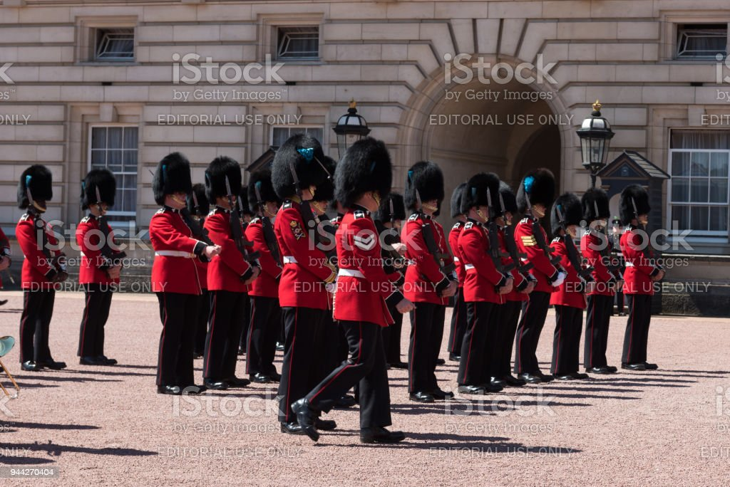 The Queens Guard stock photo