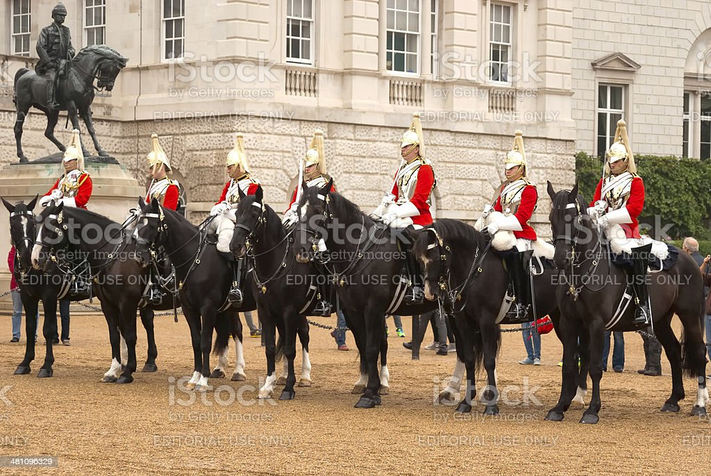 The Queen's Life Guard stock photo