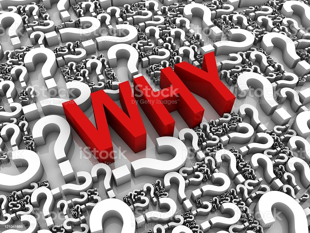 The question of why in red letters royalty-free stock photo