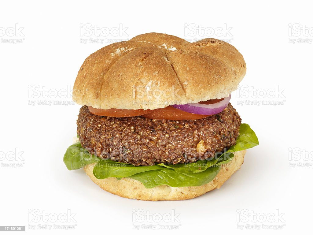 The Quinoa Burger royalty-free stock photo