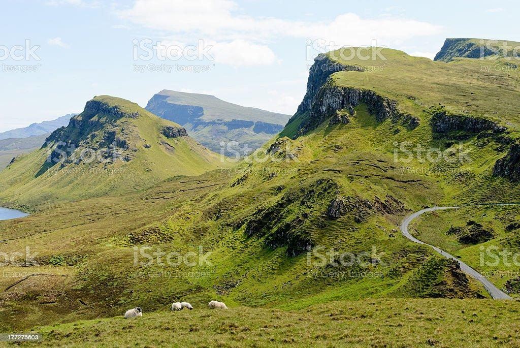 The Quirain, Isle of Skye, Scotland stock photo