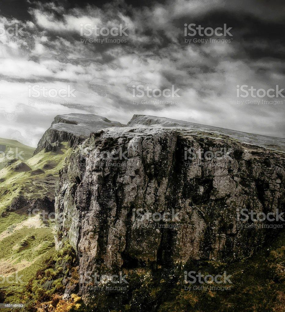 The Quirang on Skye stock photo