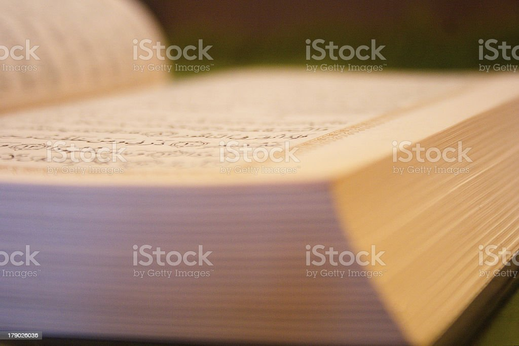 The Quran page royalty-free stock photo
