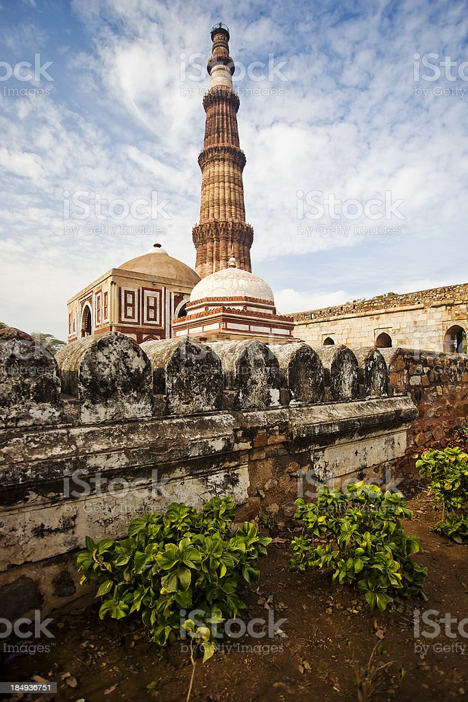 The Qutab Minar In New Delhi, India royalty-free stock photo