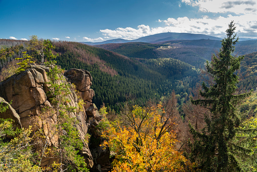 The Rabenklippe, granite rock in the Harz National Park