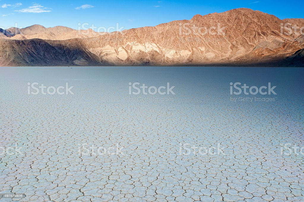 The Racetrack Playa Dry Lake In Death Valley stock photo