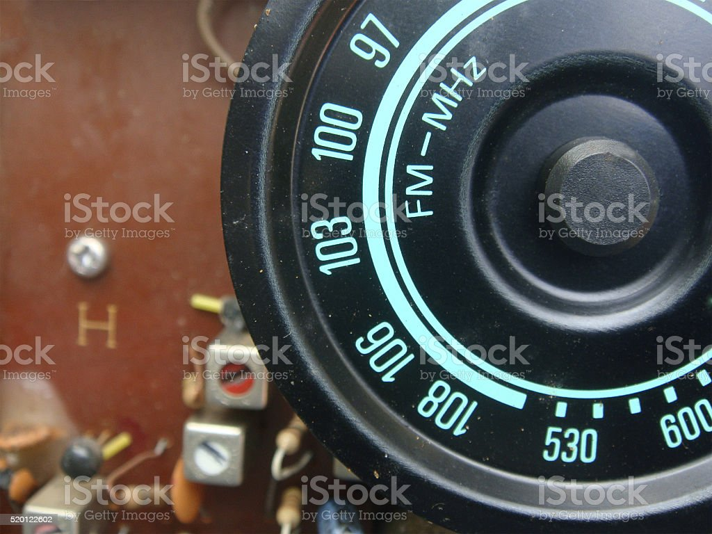 The radio frequency display stock photo