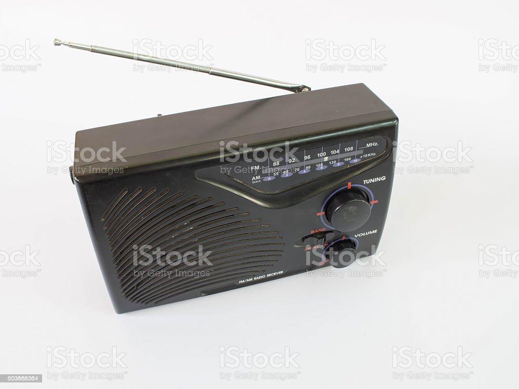 The radio receiver stock photo