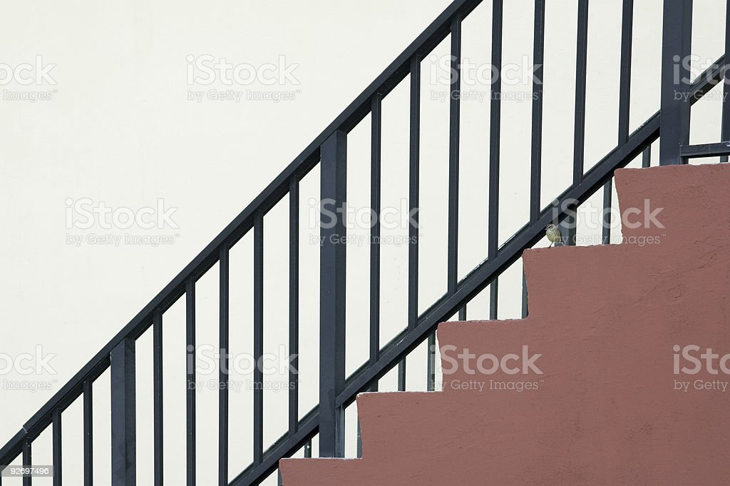 the railing royalty-free stock photo