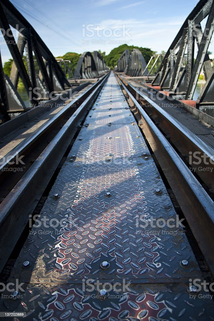 The railroad late die royalty-free stock photo