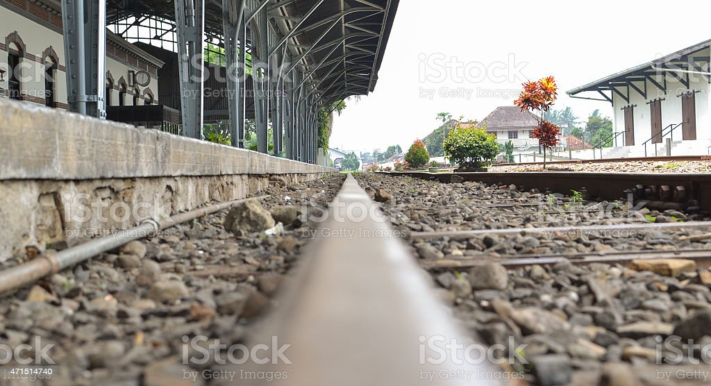 The Railroad stock photo