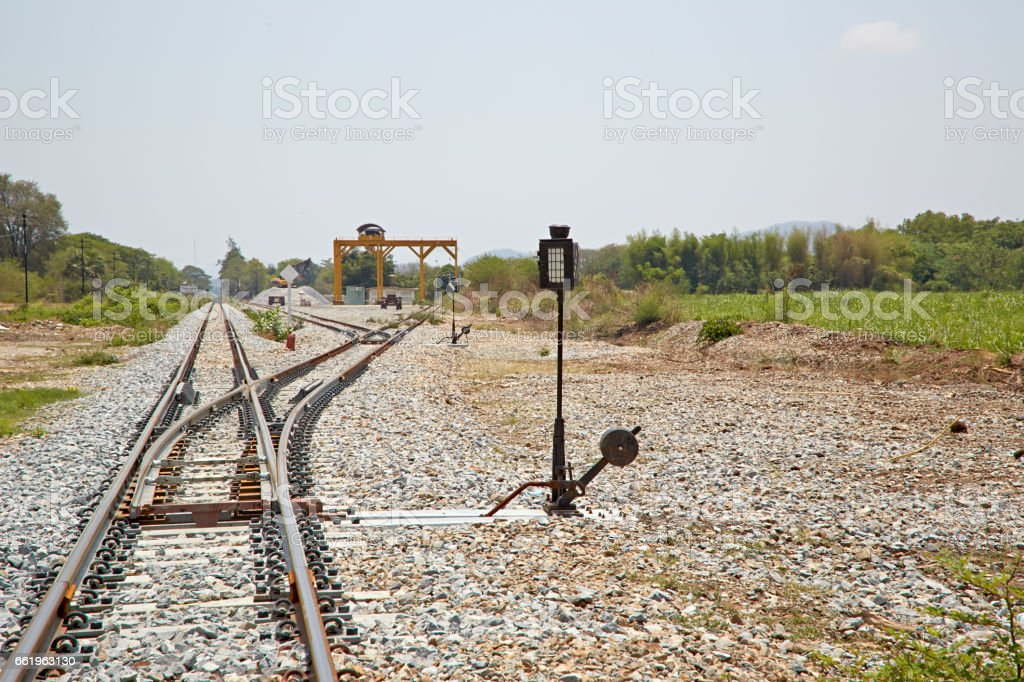 the rails royalty-free stock photo