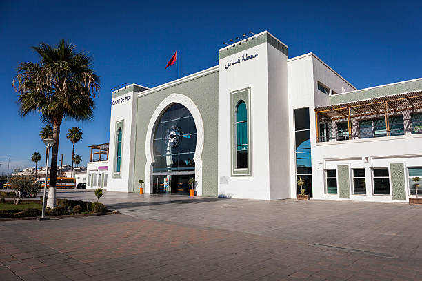 The Railway Station of Fez stock photo