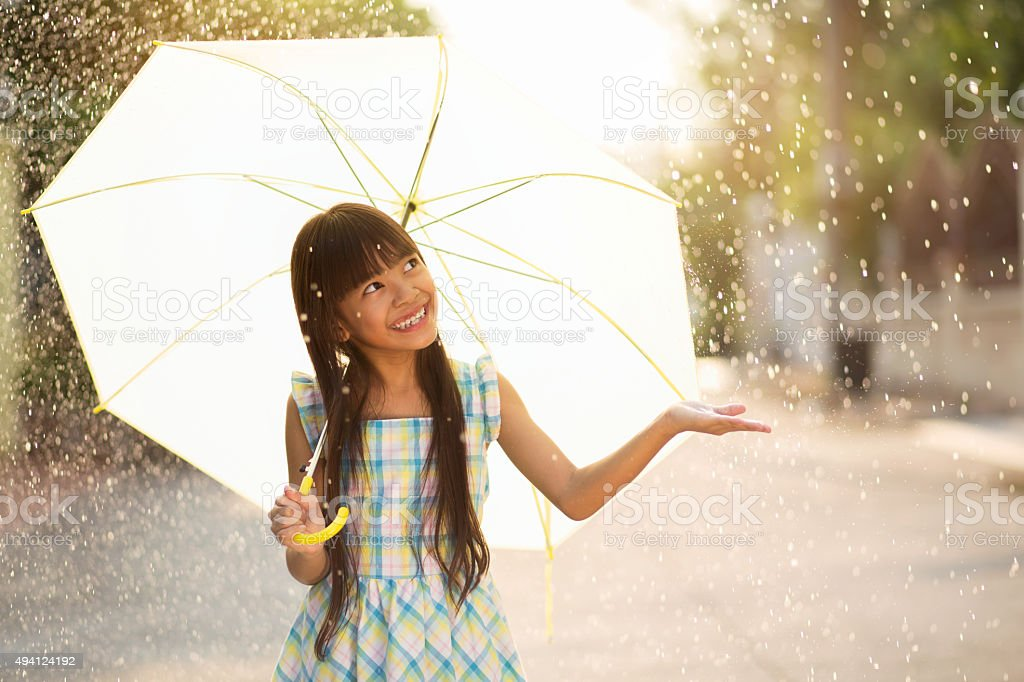 The rain stock photo