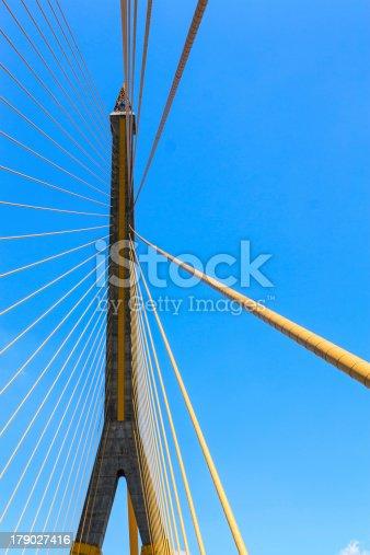The Rama 8 Bridge at daytime in Bangkok, Thailand