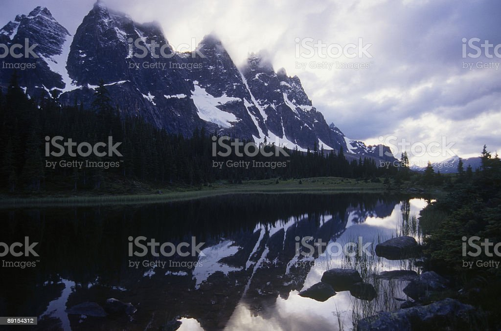 The Ramparts in Jasper National Park royalty-free stock photo