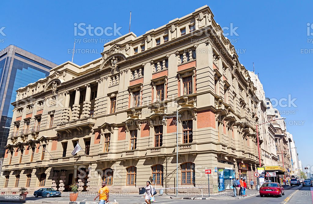 The Rand Club in Johannesburg royalty-free stock photo