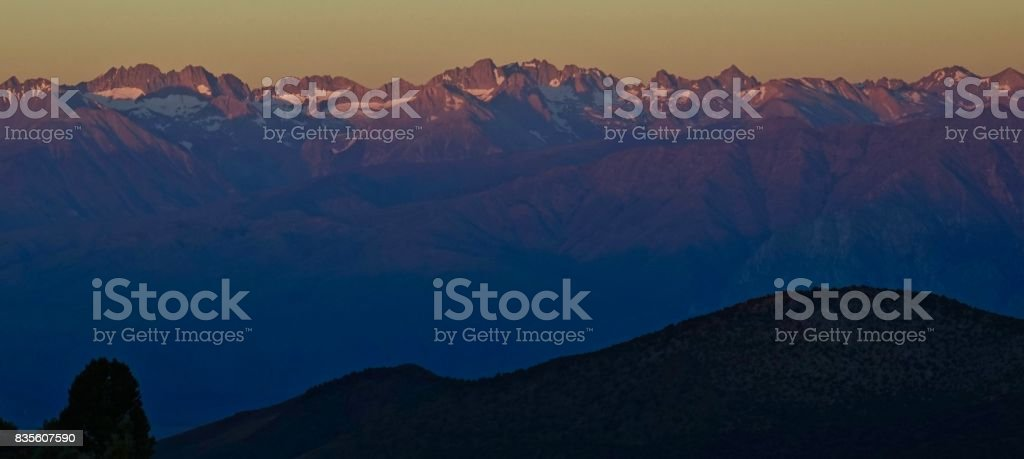 The Range Of Light stock photo