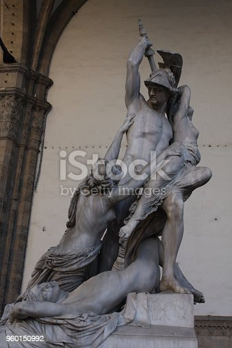 The Rape of Polyxena statue in Florence, Italy.