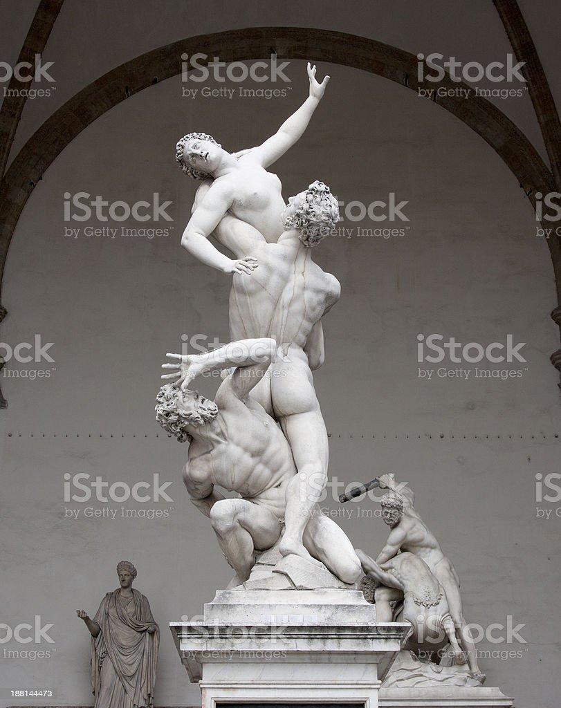 The Rape of  Sabine Women stock photo