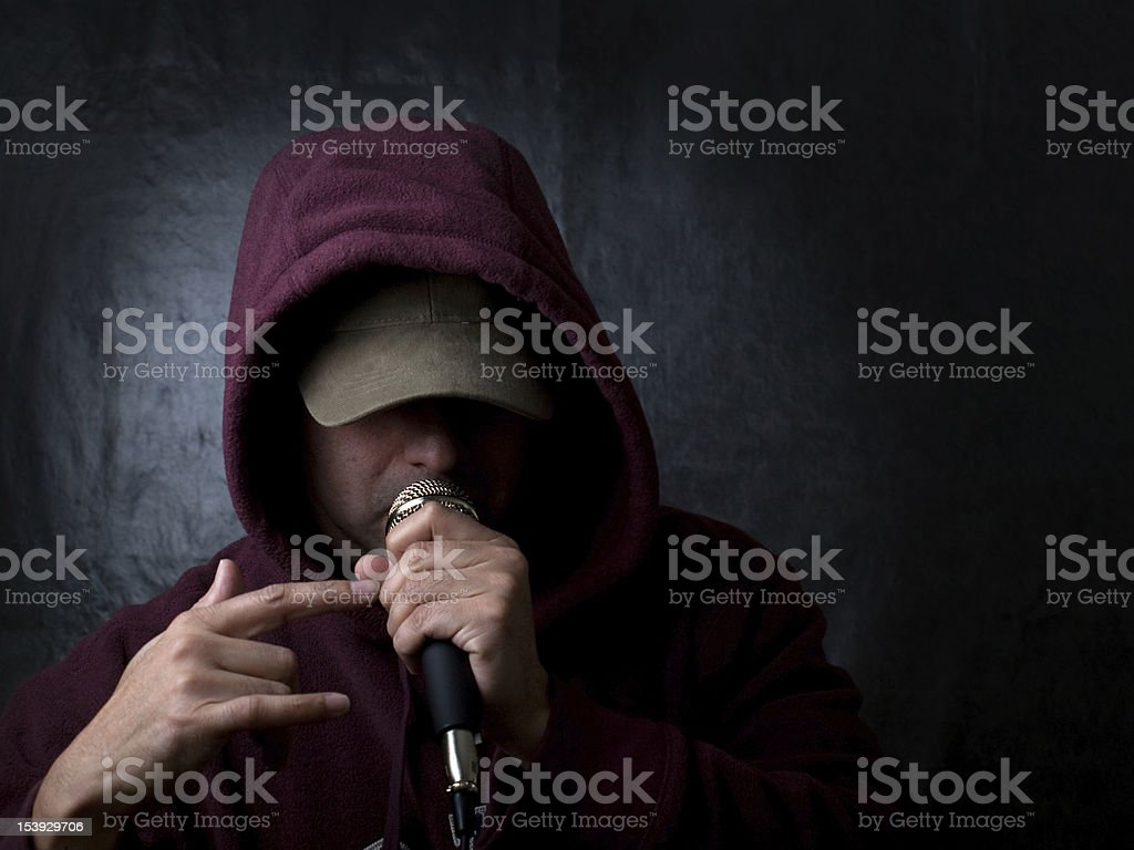 The Rapper, an Urban Poet stock photo