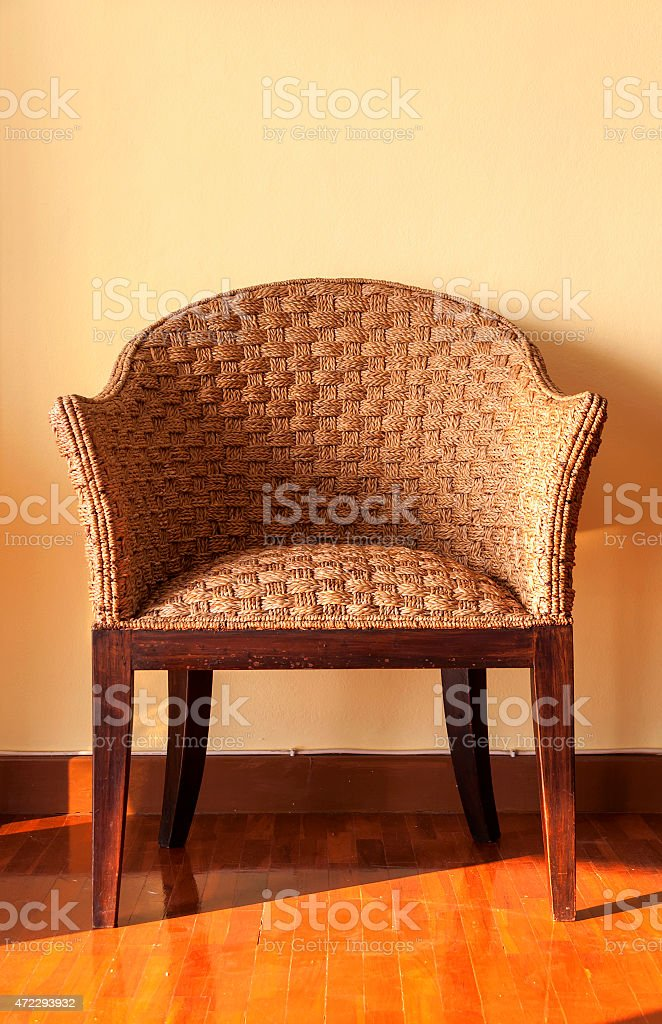 The rattan chair stock photo