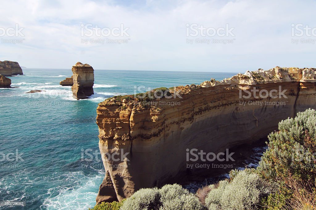 The Razorback at the great ocean road stock photo