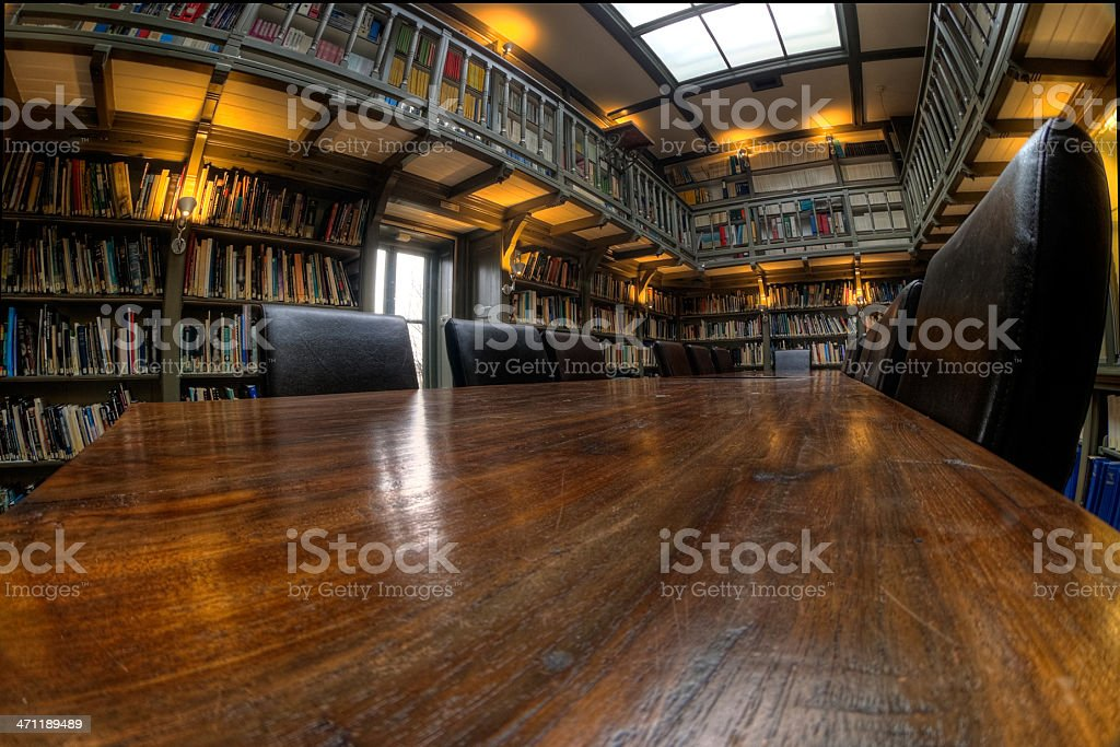 The reading table royalty-free stock photo
