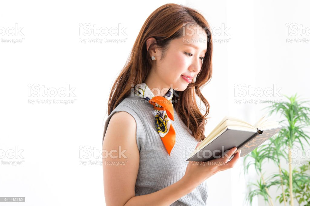 The reading woman royalty-free stock photo