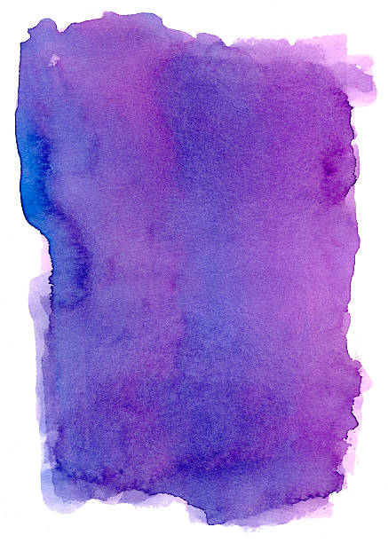 the real purple frame vol iii - purple watercolor stock photos and pictures