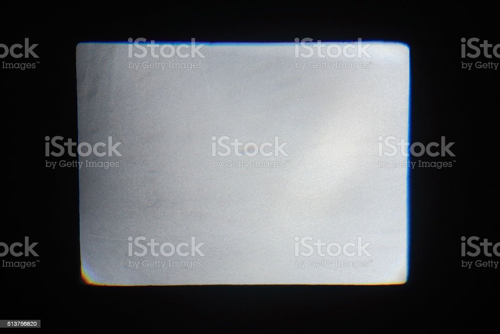 The rectangle of light on a black background stock photo
