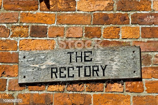 Sign on the side of a building in Grantham Lincolnshire.