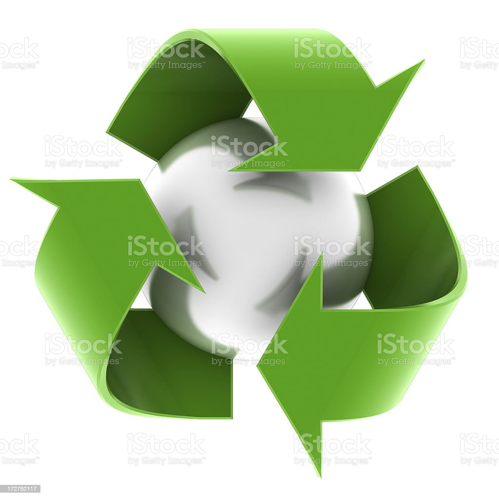 The recycle symbol green arrows royalty-free stock photo