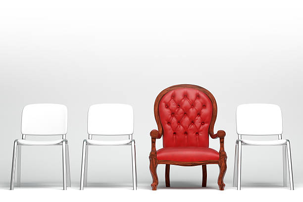 the red armchair - contrasts stock pictures, royalty-free photos & images