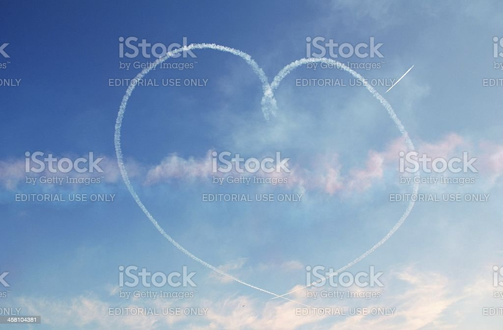 The Red Arrows, Eastbourne royalty-free stock photo