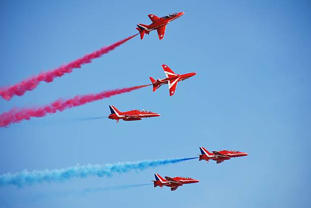 The Red Arrows, Hastings stock photo