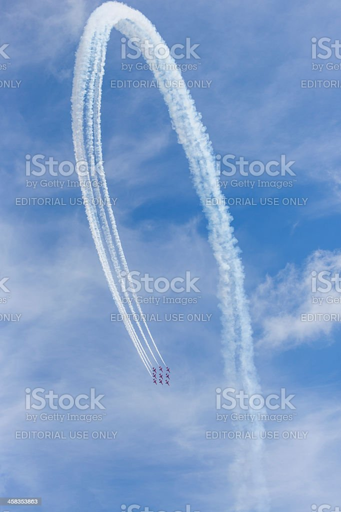 The Red Arrows royalty-free stock photo