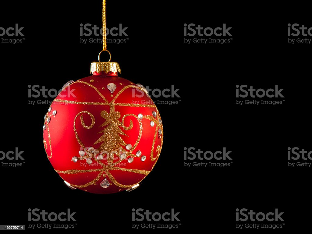 The Red Bauble stock photo